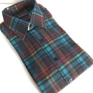Vintage men's LT flannel long sleeve dress shirt